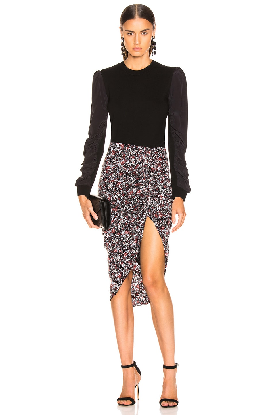 Image 5 of Veronica Beard Ari Skirt in Black Multi