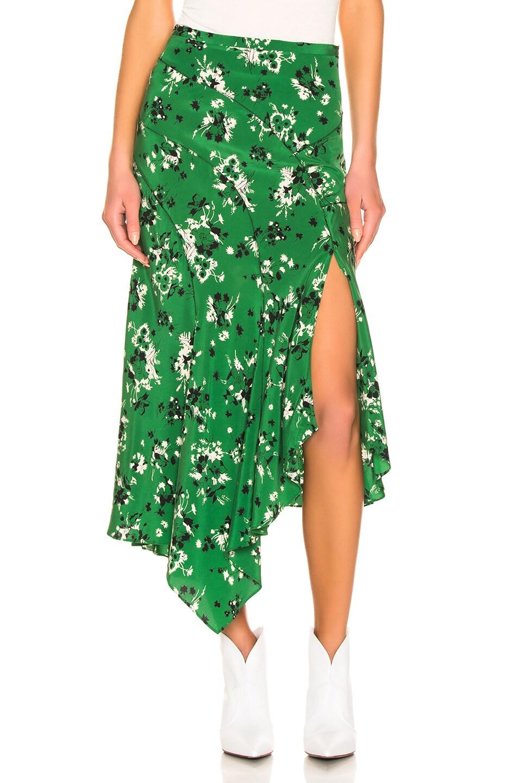 Image 1 of Veronica Beard Mac Skirt in Green Multi