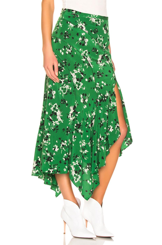 Image 2 of Veronica Beard Mac Skirt in Green Multi