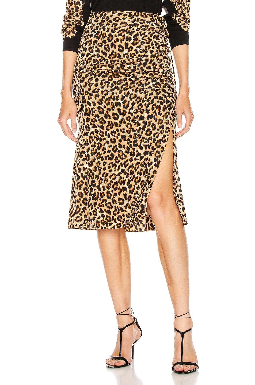 Image 1 of Veronica Beard Vanity Skirt in Leopard