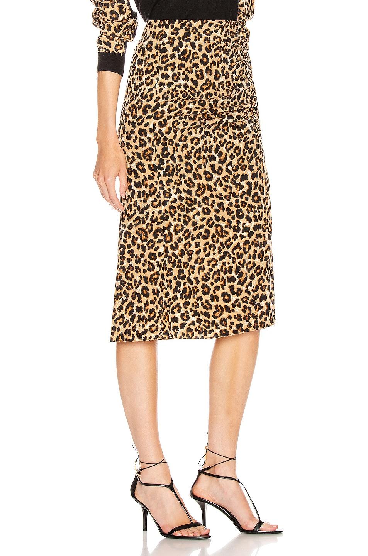 Image 2 of Veronica Beard Vanity Skirt in Leopard