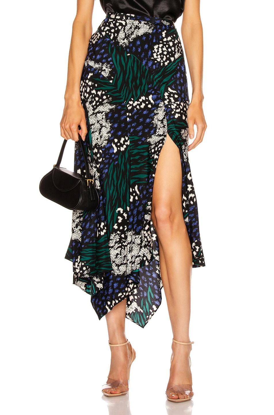 Image 1 of Veronica Beard Mac Skirt in Black Multi