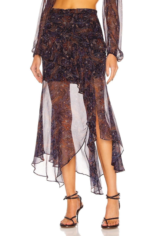 Image 1 of Veronica Beard Trixie Skirt in Black Multi