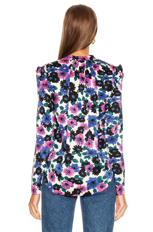Image 4 of Veronica Beard Buzio Top in Pink Multi