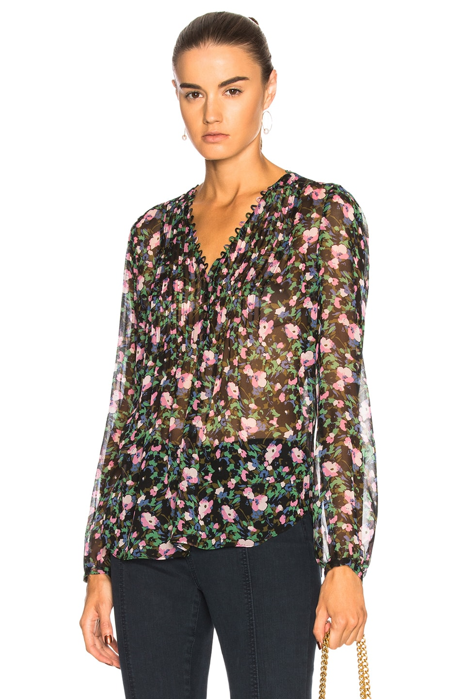 32793e07597 Image 1 of Veronica Beard Lowell Top in Painted Floral