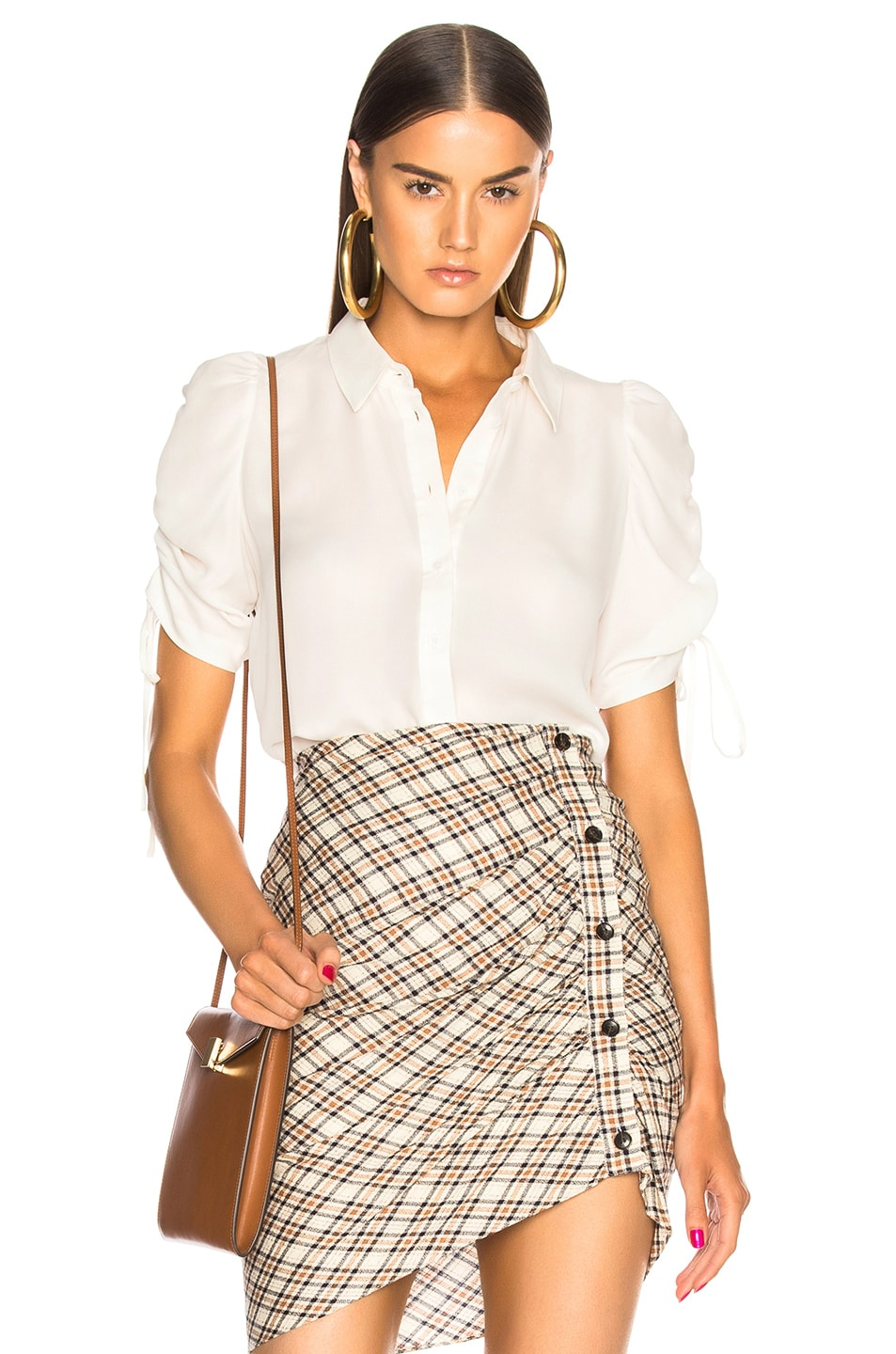 d8d079067b759a Image 1 of Veronica Beard Carmine Blouse in Off-White