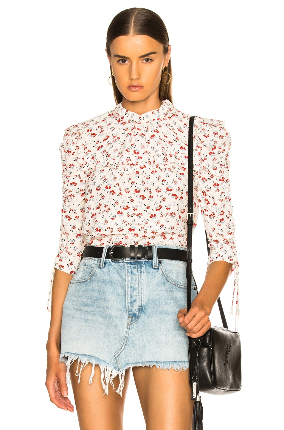 e7a26a2b57ce9d Image 1 of Veronica Beard Howell Blouse in White Multi