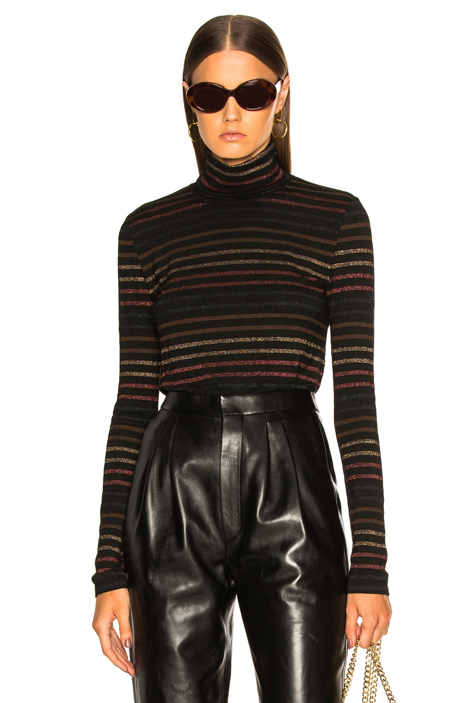 Image 1 of Veronica Beard Audrey Turtleneck in Black Multi