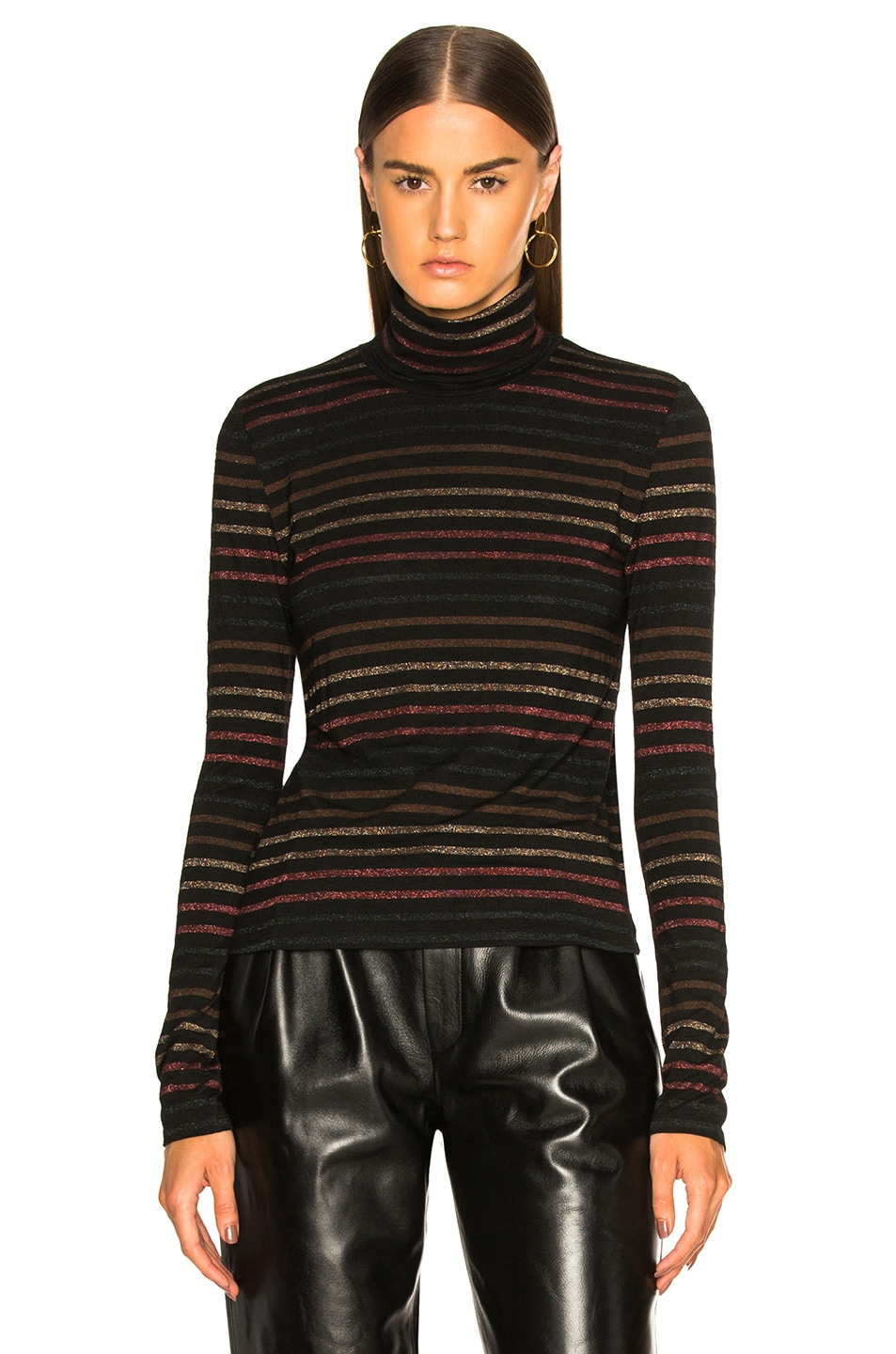 Image 2 of Veronica Beard Audrey Turtleneck in Black Multi
