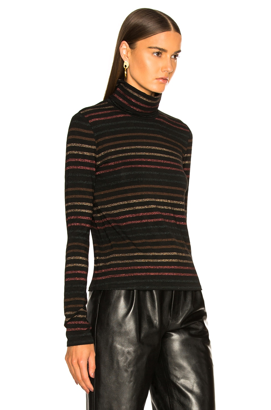 Image 3 of Veronica Beard Audrey Turtleneck in Black Multi
