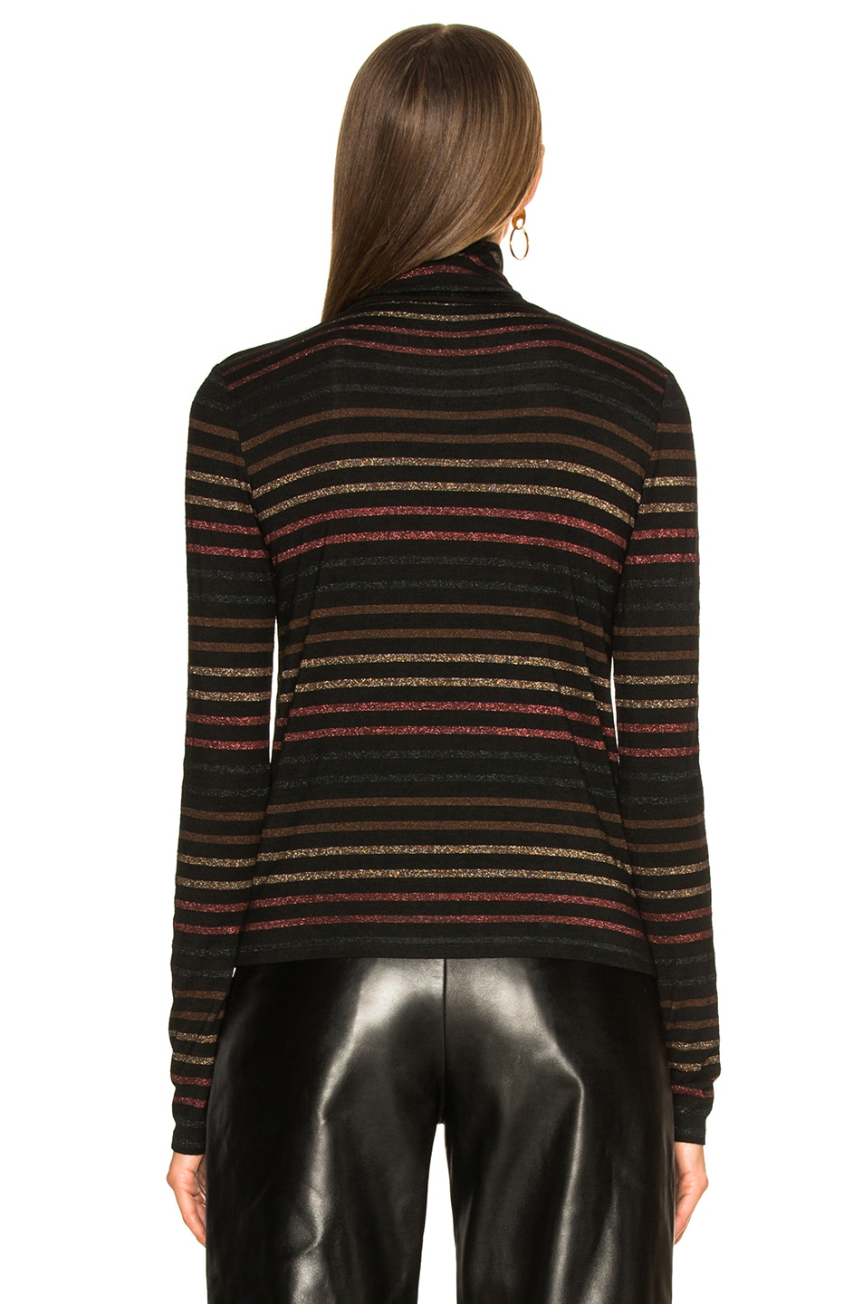 Image 4 of Veronica Beard Audrey Turtleneck in Black Multi