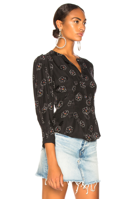 Image 2 of Veronica Beard Franci Top in Black Multi