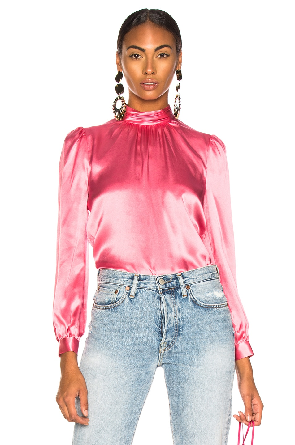 e834407d1c876 Image 1 of Veronica Beard Chilton Blouse in Pink
