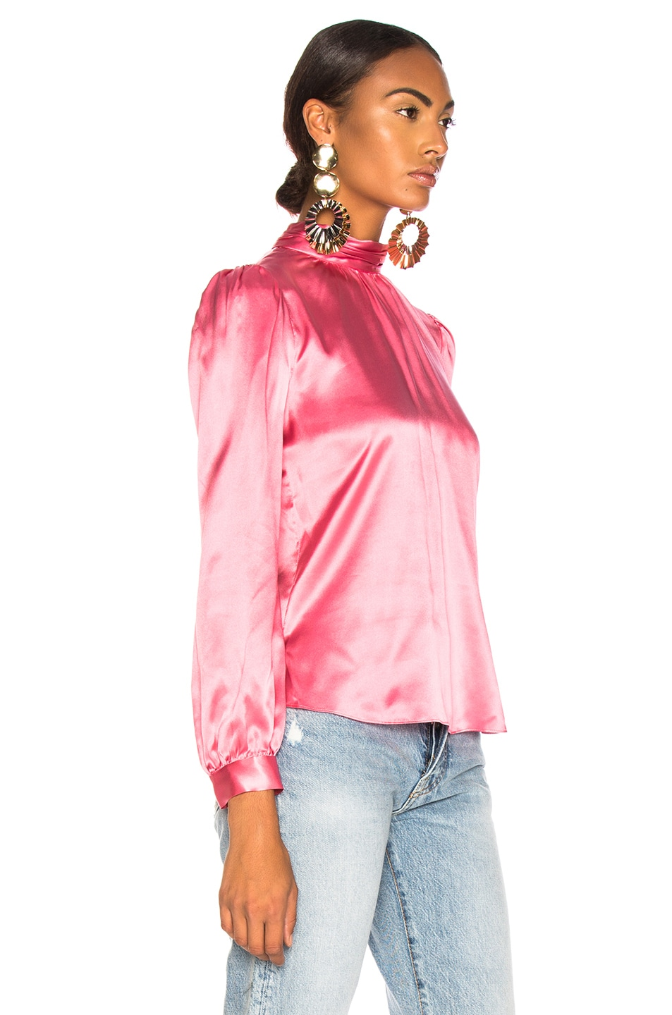 e2b0d846f80a9 Image 3 of Veronica Beard Chilton Blouse in Pink
