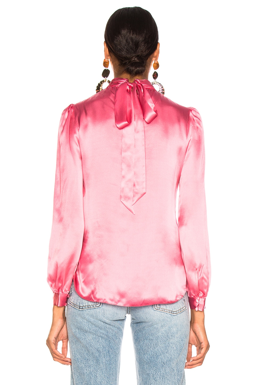 6ad0edacb43da Image 4 of Veronica Beard Chilton Blouse in Pink
