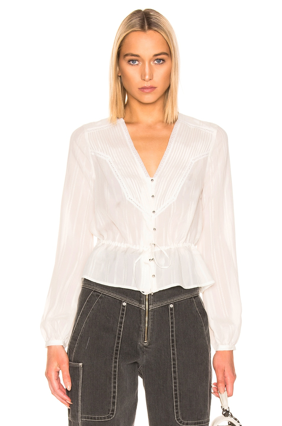 08a0e2b36a203d Image 1 of Veronica Beard Phoebe Blouse in White