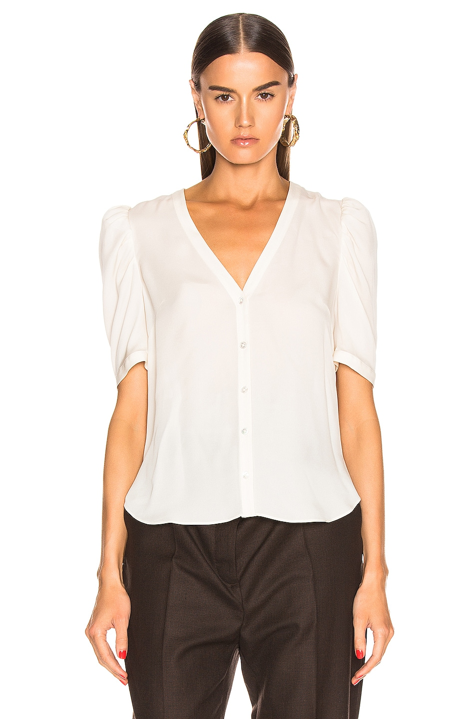 Image 2 of Veronica Beard Garland Blouse in Off White