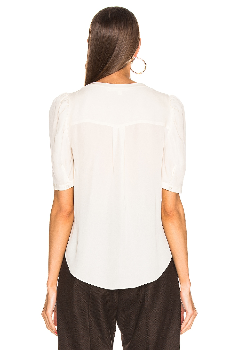 Image 4 of Veronica Beard Garland Blouse in Off White