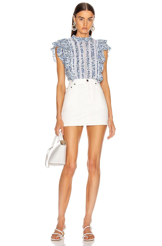Image 4 of Veronica Beard Sol Top in White Multi