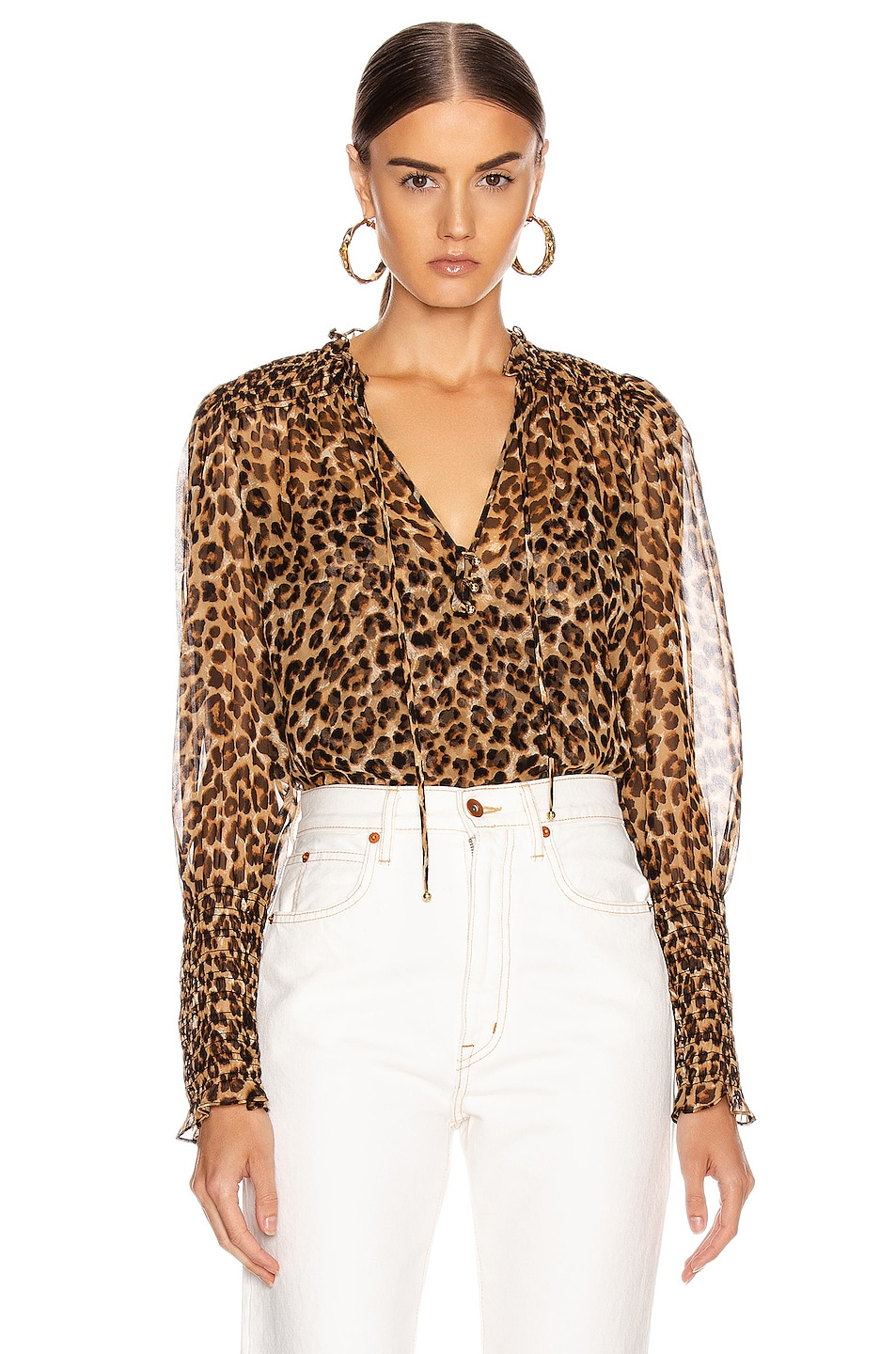 Image 1 of Veronica Beard Jaz Top in Leopard