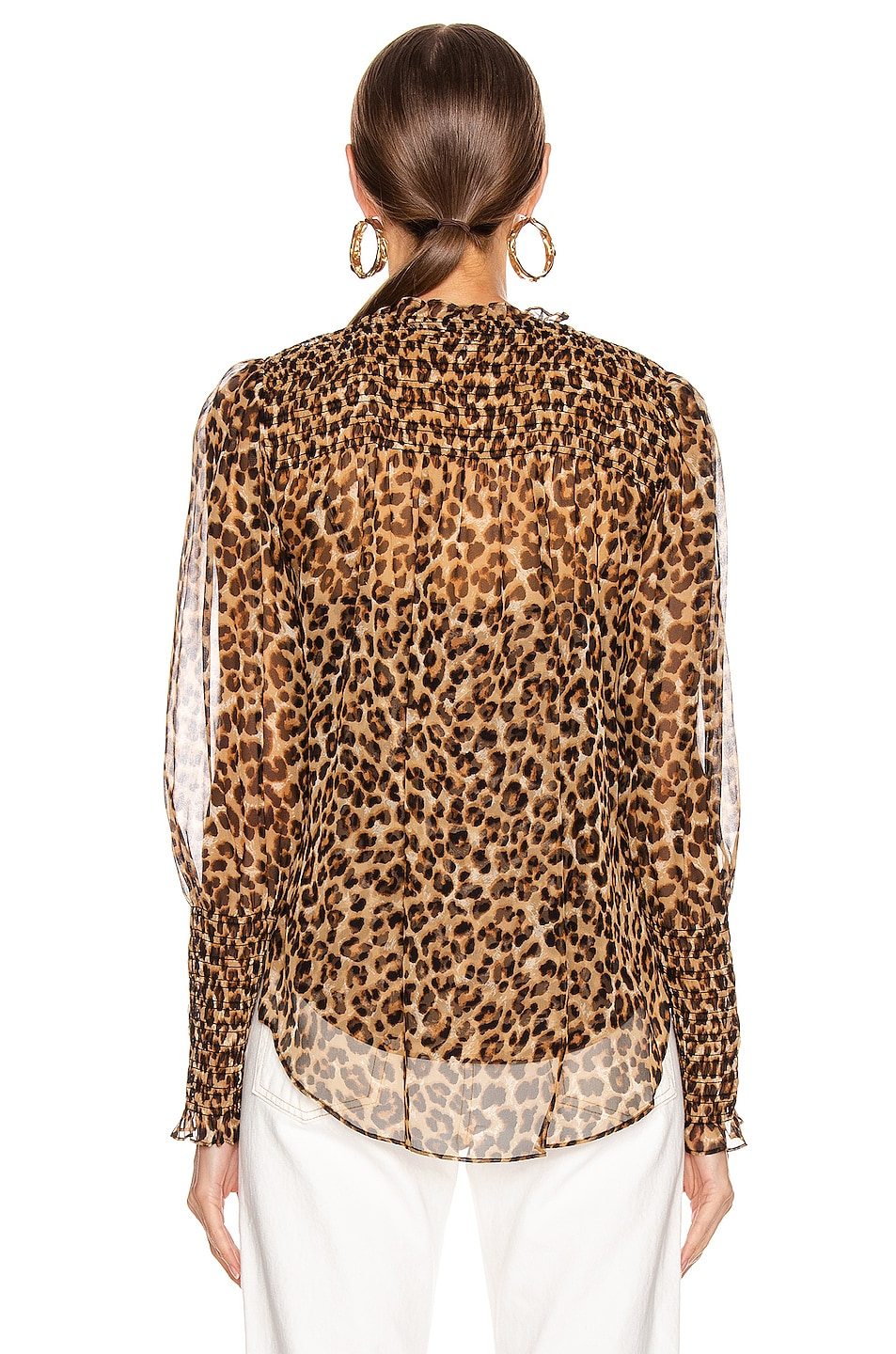 Image 3 of Veronica Beard Jaz Top in Leopard