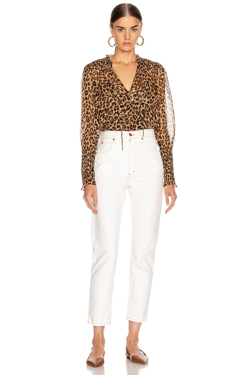 Image 4 of Veronica Beard Jaz Top in Leopard