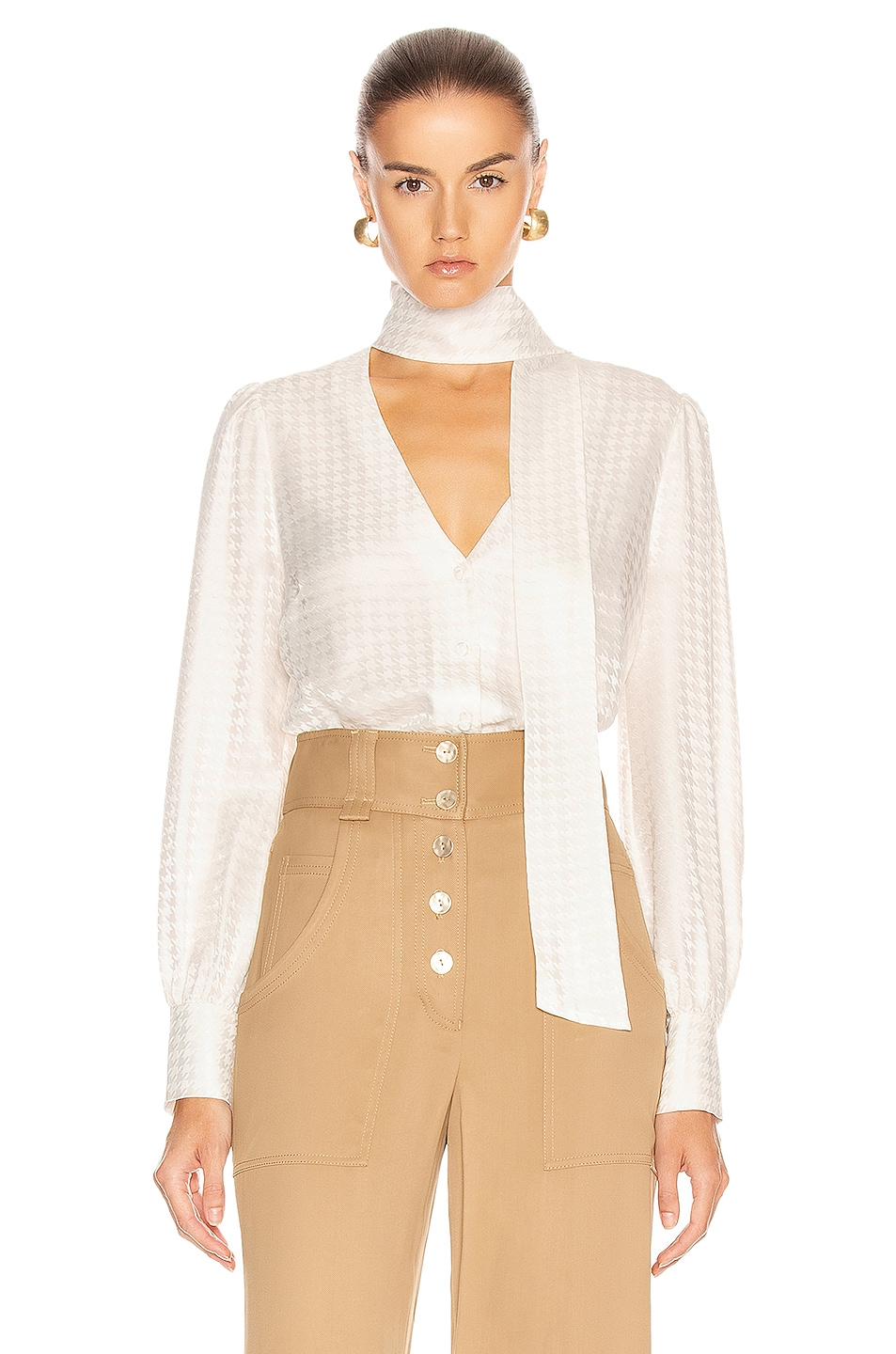 Image 1 of Veronica Beard Nicky Top in Off White