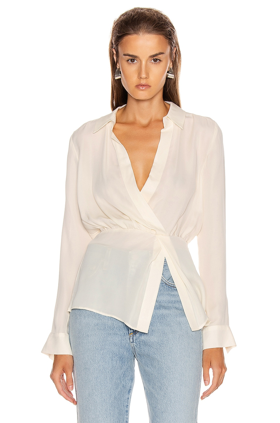 Image 1 of Veronica Beard Clyde Top in White