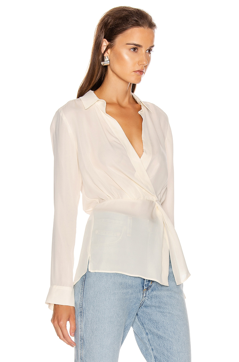 Image 2 of Veronica Beard Clyde Top in White
