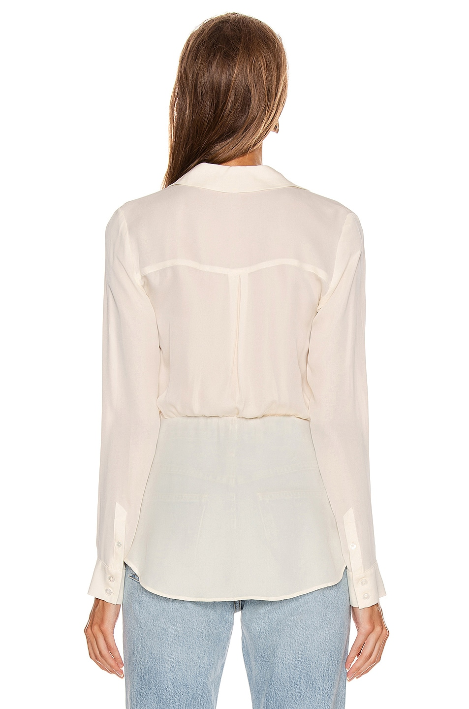 Image 4 of Veronica Beard Clyde Top in White
