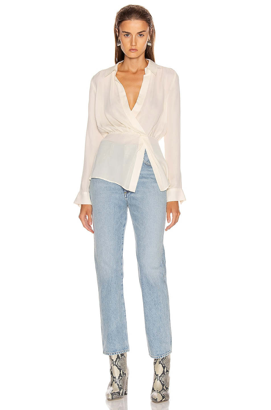 Image 5 of Veronica Beard Clyde Top in White