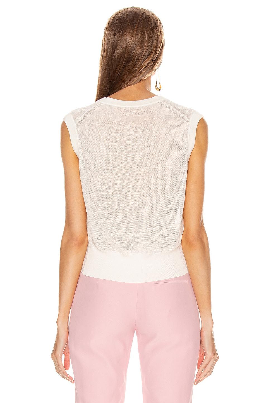 Image 3 of Veronica Beard Kellen Sweater Top in Ivory