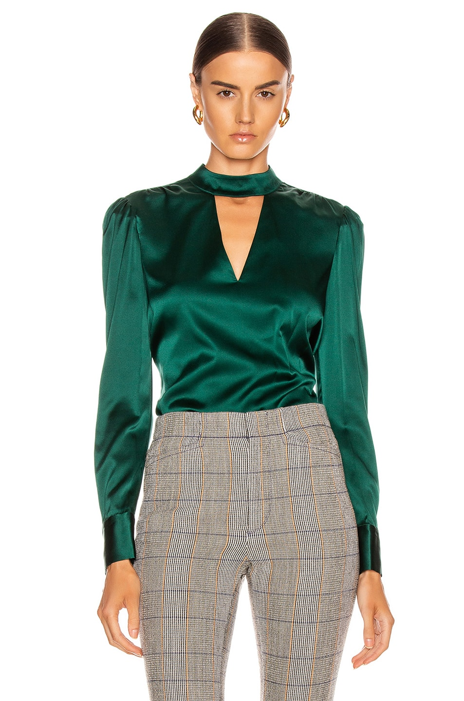 Image 1 of Veronica Beard Wade Top in Green