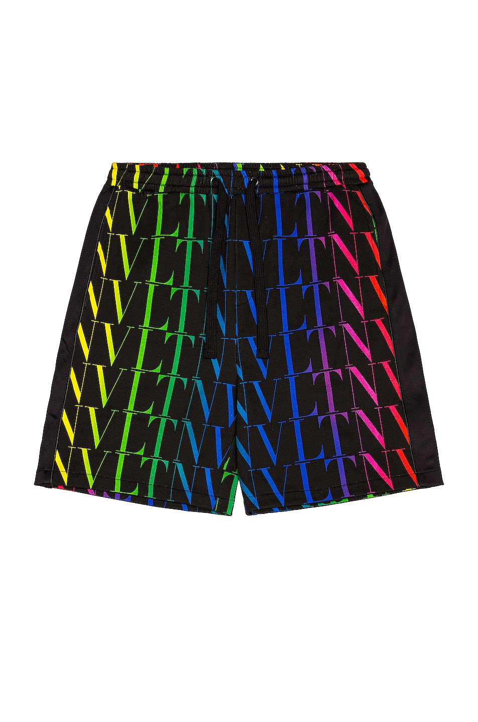 Image 1 of Valentino Jersey Shorts in Black