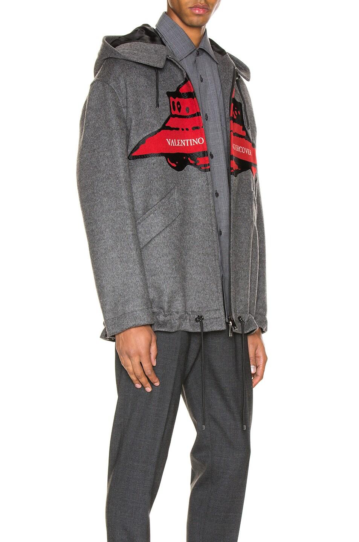Image 3 of Valentino Time Traveller Hoodie in Medium Grey