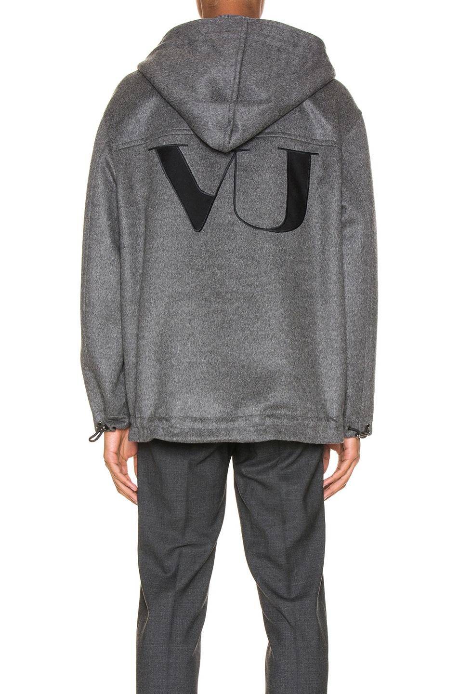 Image 4 of Valentino Time Traveller Hoodie in Medium Grey