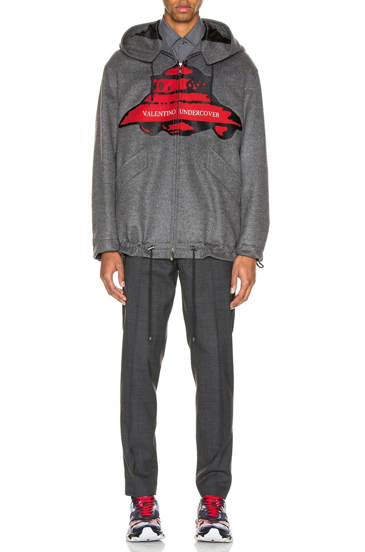 Image 5 of Valentino Time Traveller Hoodie in Medium Grey