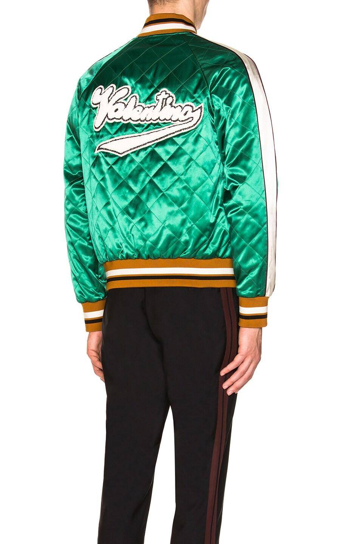 Image 1 of Valentino Garavani Patch Souvenir Jacket in Emerald Green