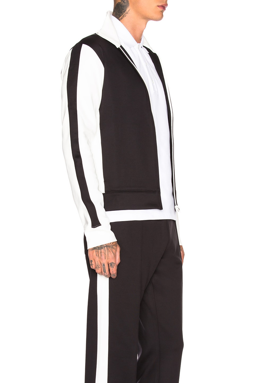 Image 3 of Valentino Track Jacket in White & Black