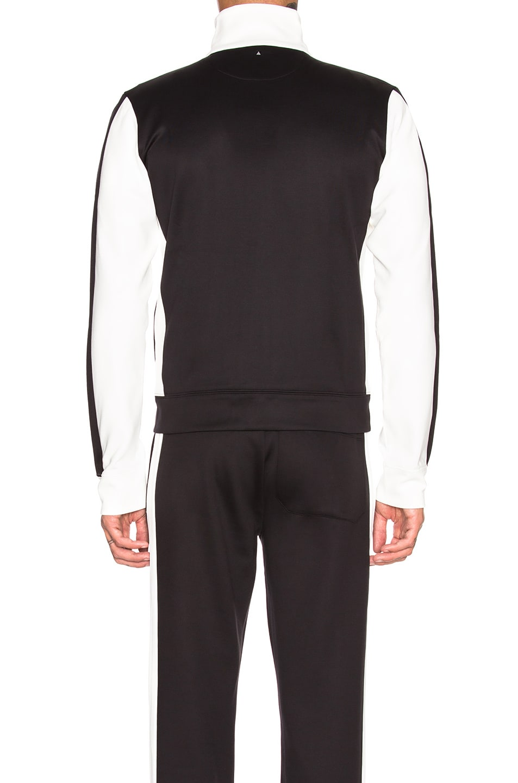 Image 4 of Valentino Track Jacket in White & Black