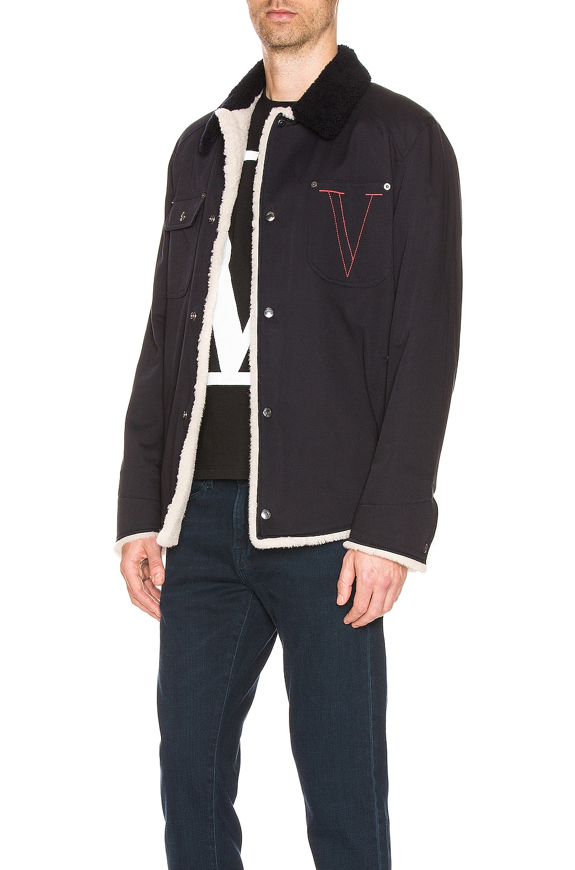 Image 3 of Valentino Logo Jacket in Navy