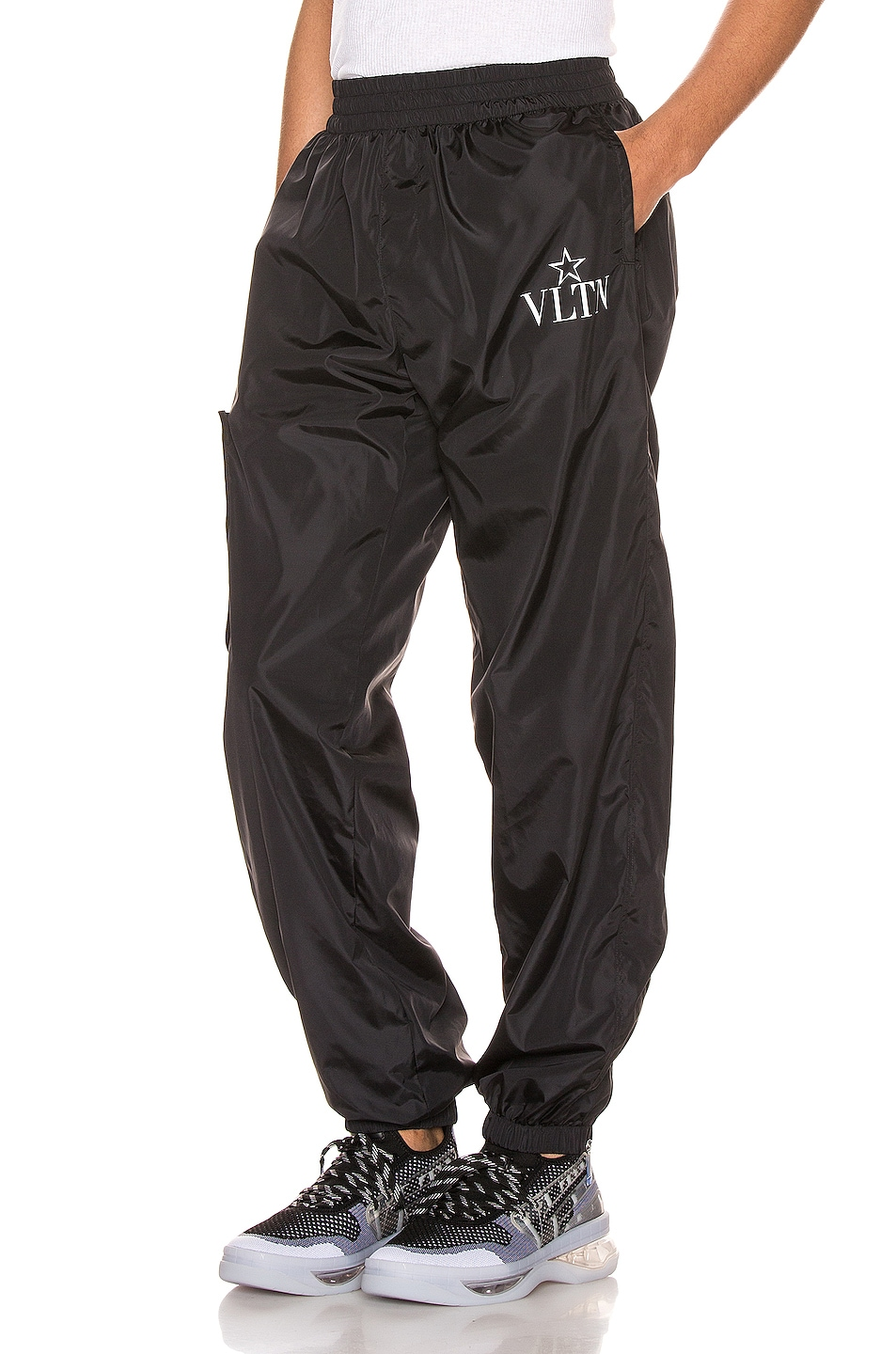 Image 1 of Valentino Cargo Pants in Black & White