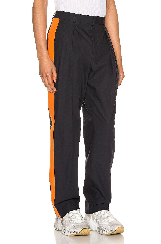Image 2 of Valentino Poplin Pants in Navy & Mandarin Orange in Navy & Mandarin Orange