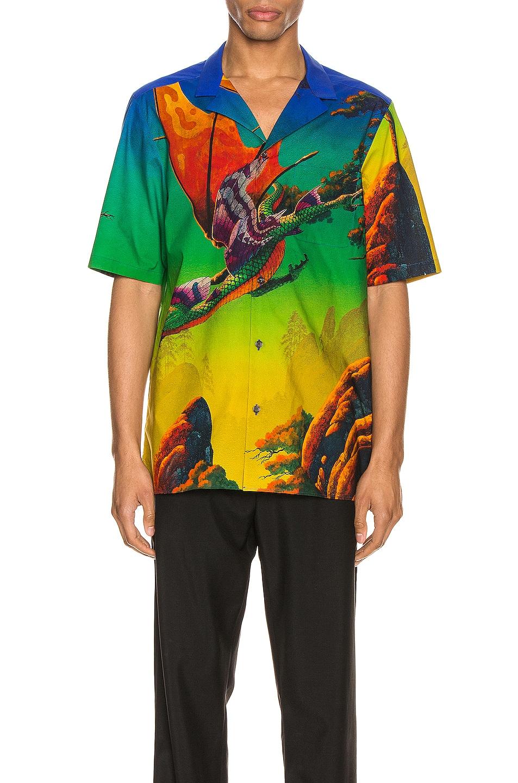Image 1 of Valentino Short Sleeve Shirt in St. Dragon At Dawn
