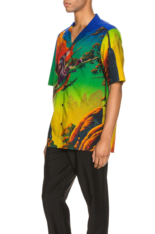 Image 3 of Valentino Short Sleeve Shirt in St. Dragon At Dawn