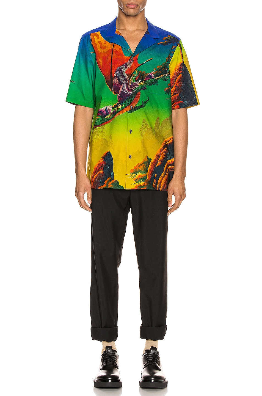 Image 5 of Valentino Short Sleeve Shirt in St. Dragon At Dawn