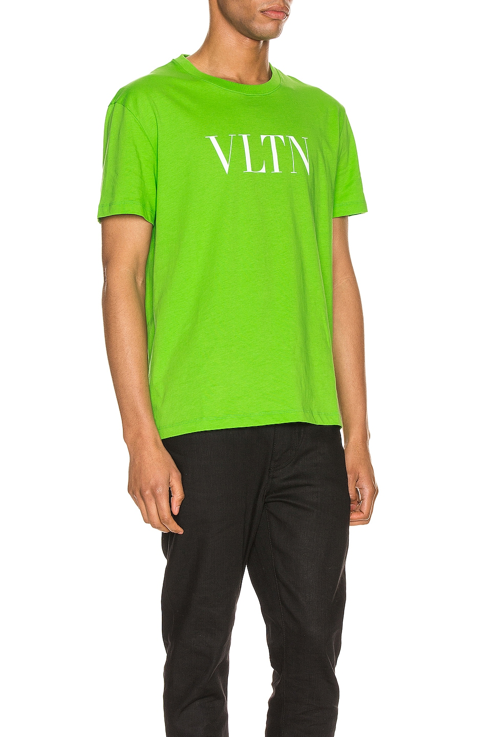 Image 2 of Valentino VLTN Tee in Fluo Green
