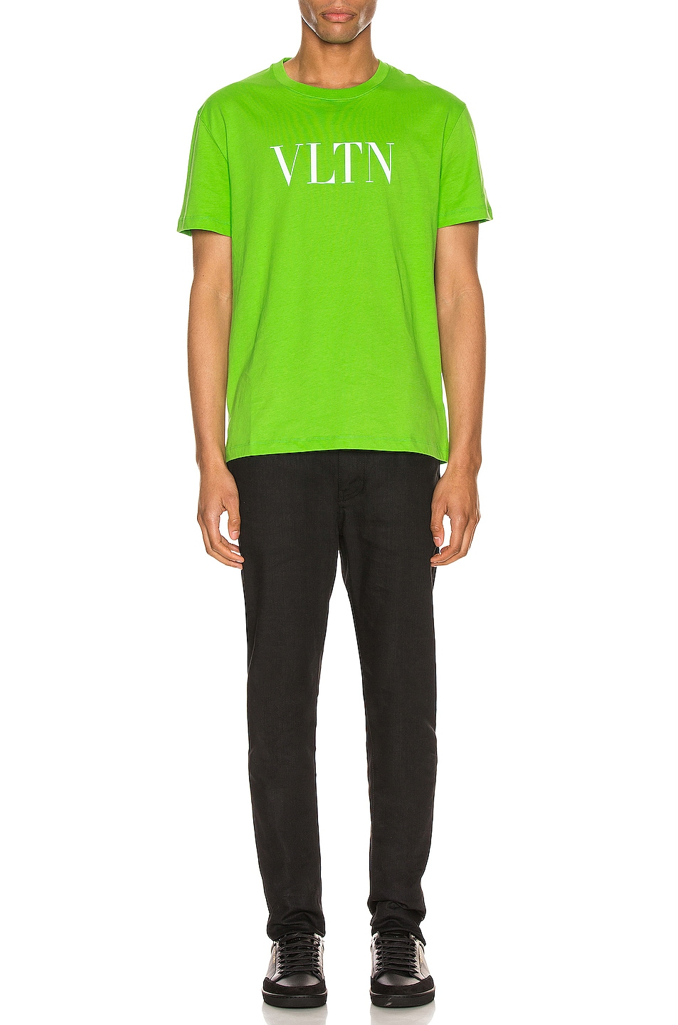 Image 4 of Valentino VLTN Tee in Fluo Green