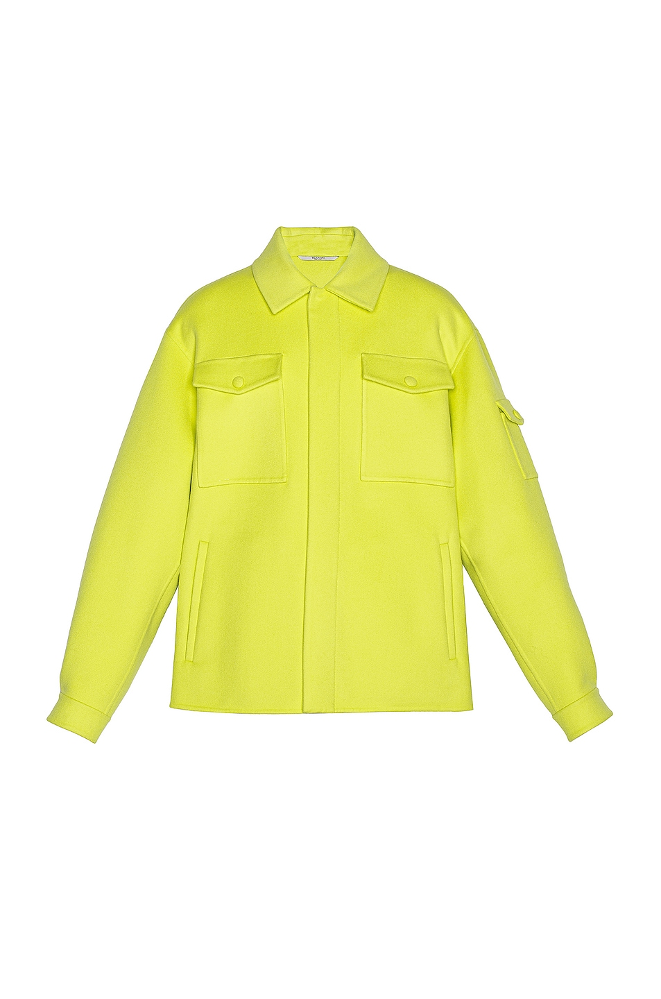 Image 1 of Valentino Shirt Jacket in Yellow Fluo
