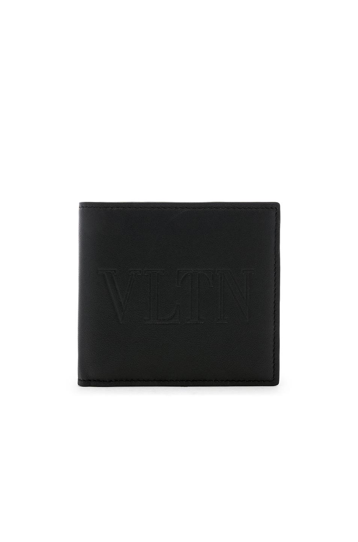Image 1 of Valentino Billfold Wallet in Black